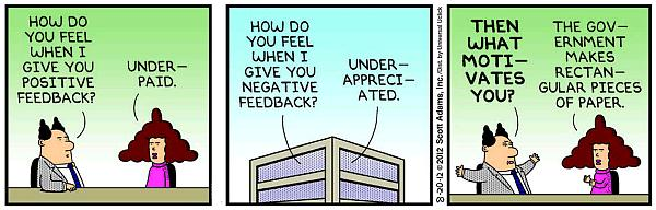 Dilbert: What motivates you?