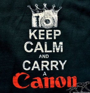 Keep Calm Carry Canon