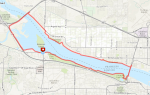 Trikke Ride: 15-mile Tri-City Loop - First Attempt