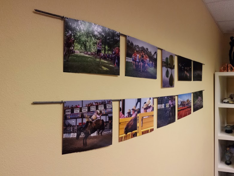 2 of the planned 4 rows of photos