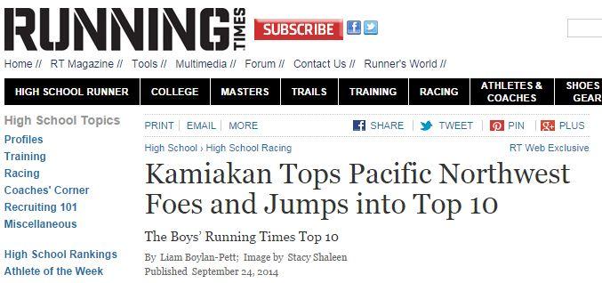 RunningTimes- - Kamiakin Cross Country