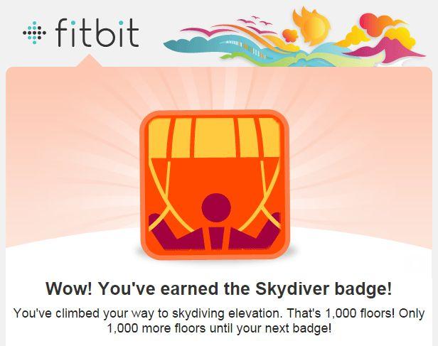 FItbit Skydiver Badge